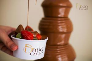 degustação cascata de chocolate duo cacao
